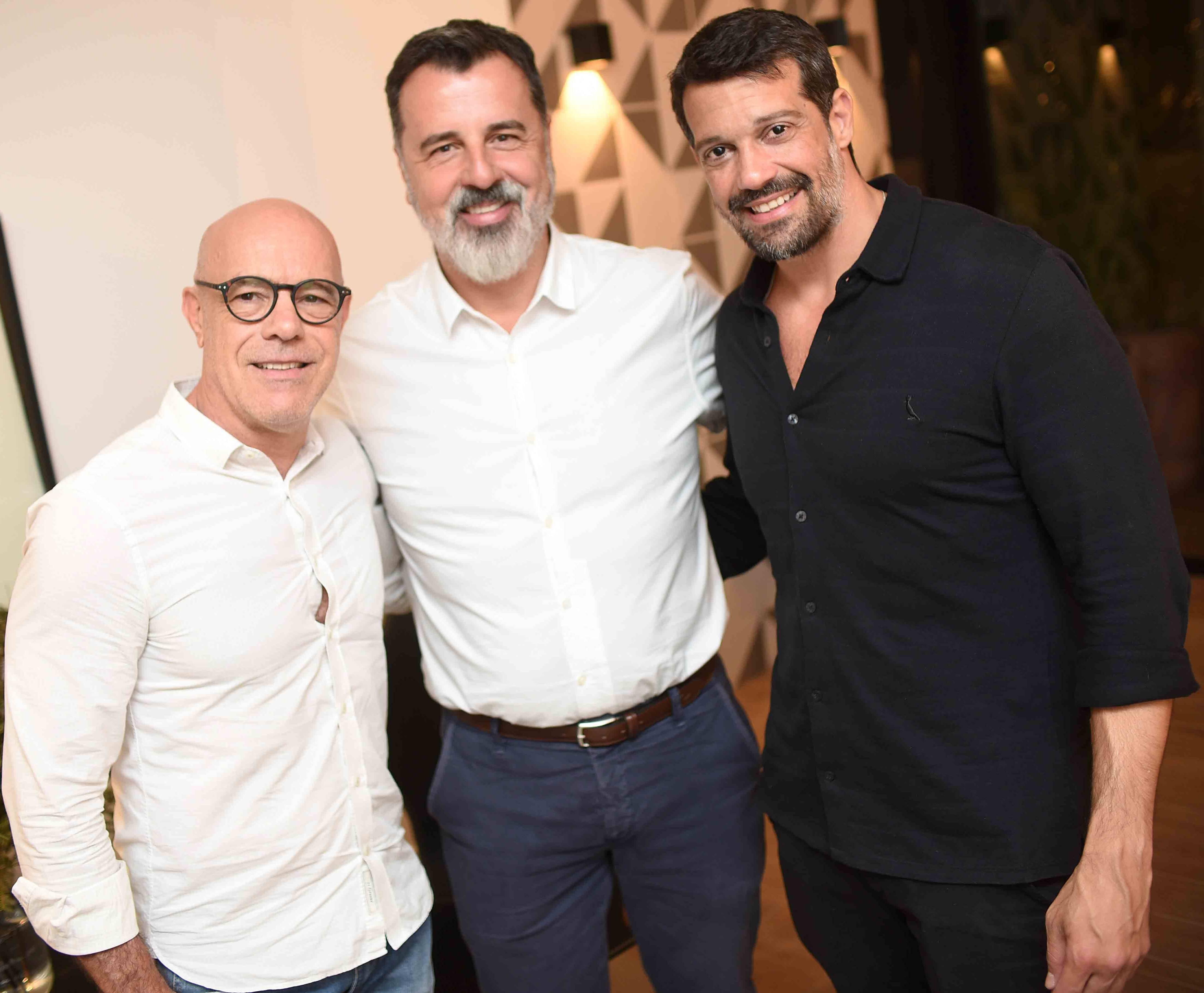 Rodrigo Sambaqui, Mauro Raggi e Alexandre Pazzini  /Foto: Ari Kaye