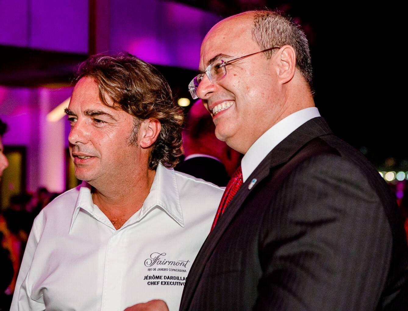 Jérôme Dardillac, o chef do hotel, com Wilson Witzel /Foto: Bruno Ryfer