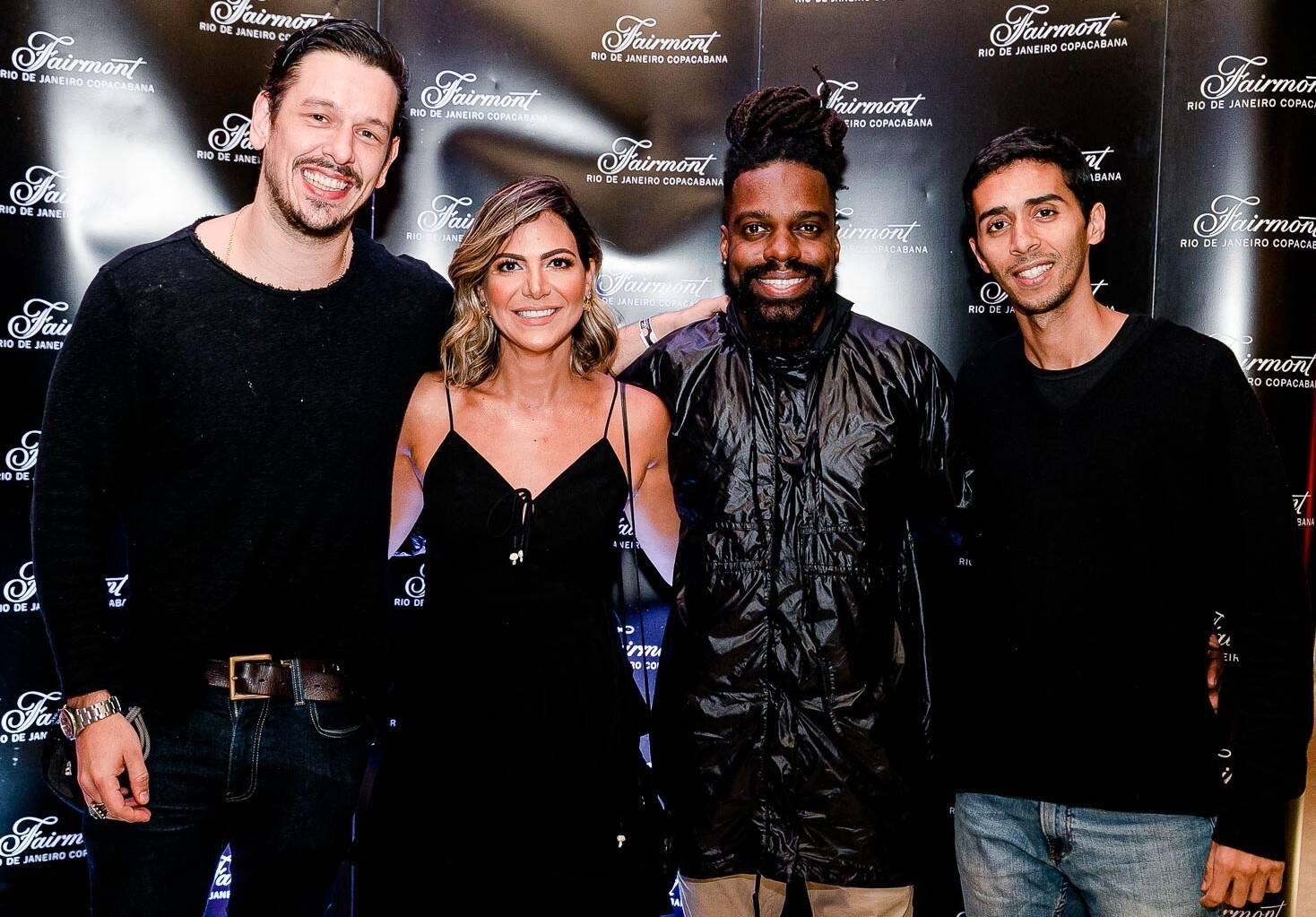 João Vicente de Castro, Carol Sampaio, Feyjão e Mosquito /Foto: Bruno Ryfer
