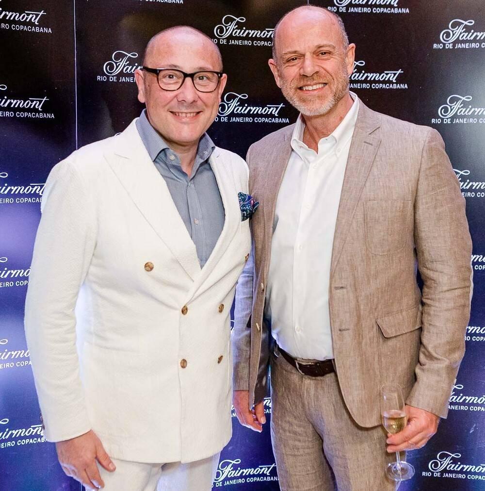 Nicolas Pesty, gerente geral dos hotéis Accor no Reino Unido; e Rogério Penido,diretor de design-construção-inovação da Accor  /Foto: Bruno Ryfer