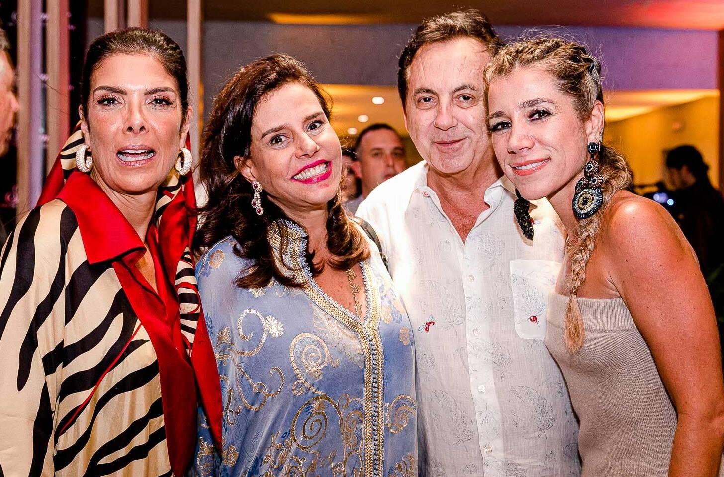 Patricia Brandão, Narcisa Tamborindeguy, Ricardo Rique e Fernanda Capobianco /Foto: Bruno Ryfer