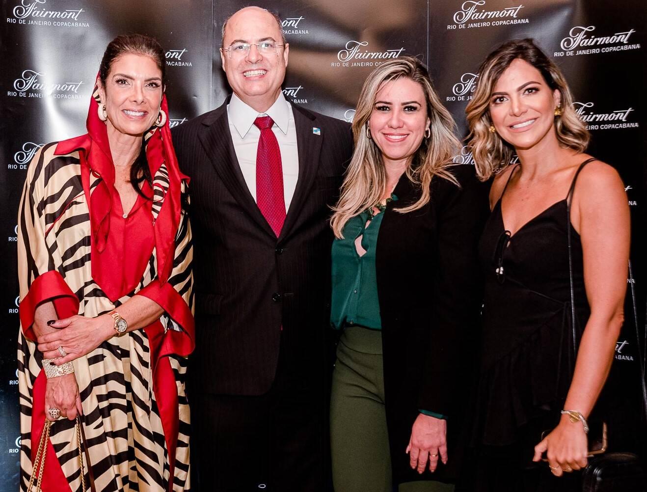 Patricia Brandão, Helena e Wilson Witzel, e  Carol Sampaio /Foto: Bruno Ryfer