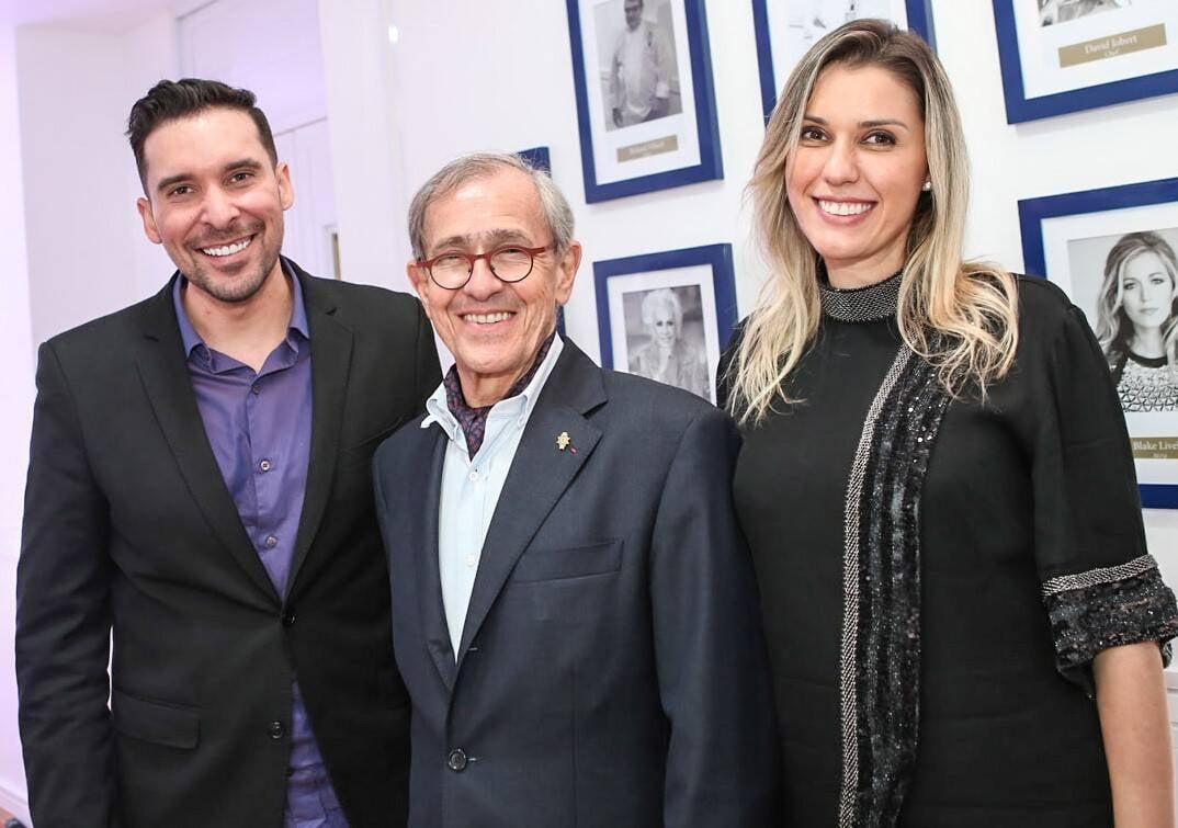 Saulo Reis, André Cointreau e Ligia Reis  /Foto: Gianne Carvalho