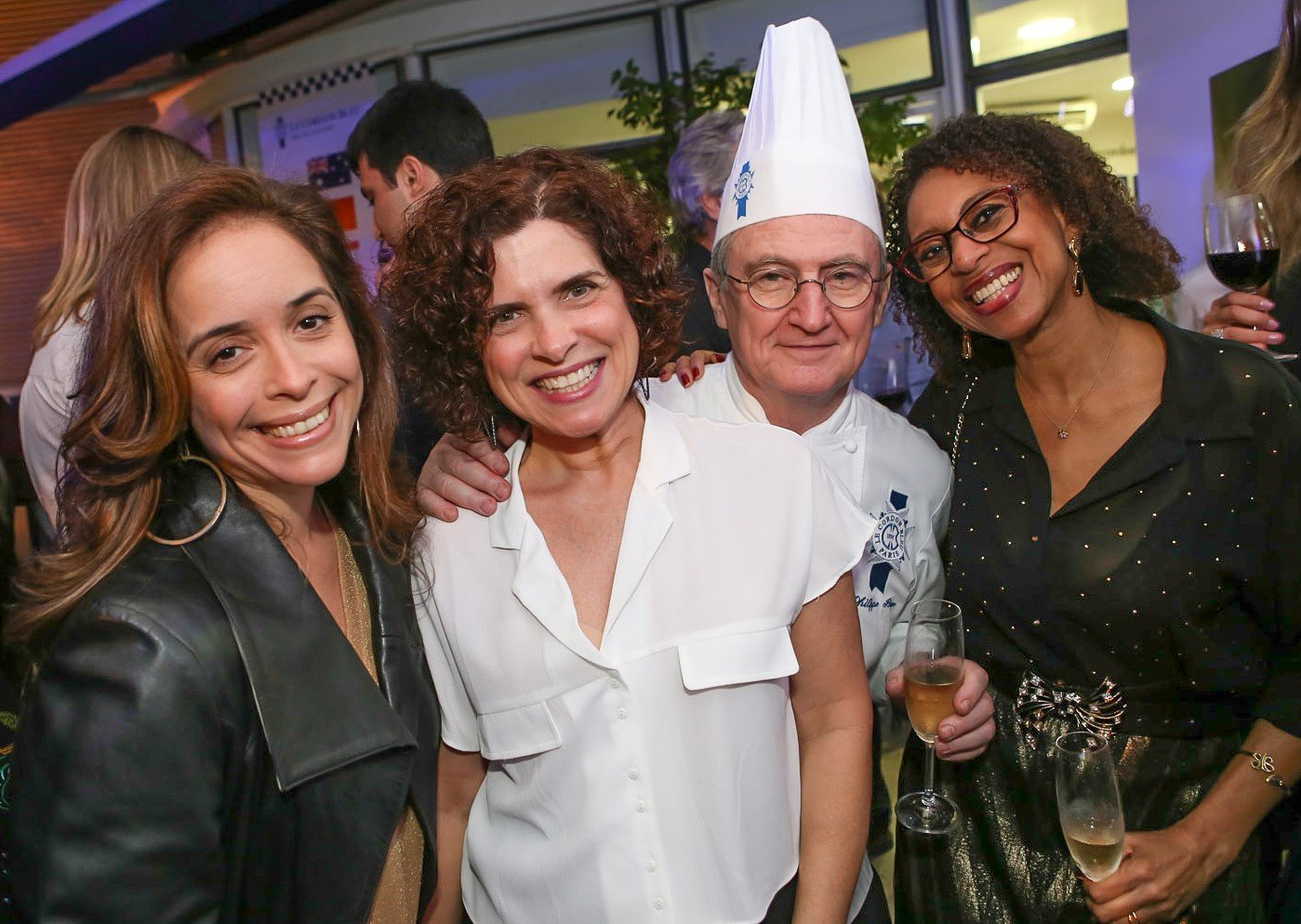 As chefs Paula Prandini, Flavia Quaresma, Philllipe Brye e Solange Brye  /Foto: Gianne Carvalho