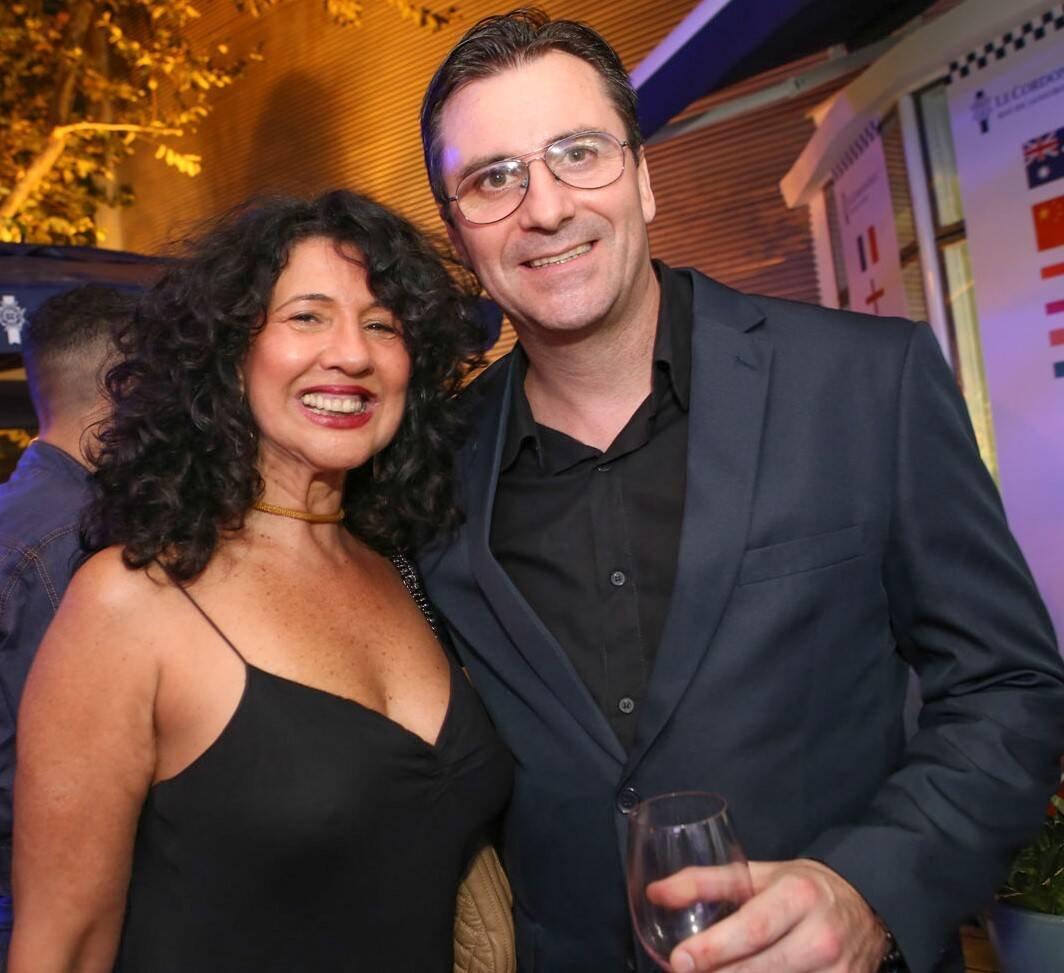 Bianca Teixeira com o chef Damien Montecer  /Foto: Gianne Carvalho