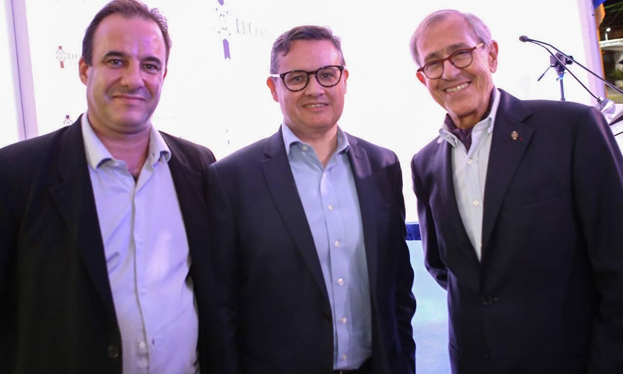 O chef Frederic Monier, o cônsul da França no Rio, Jean François Laborie, e André Cointreau  /Foto: Gianne Carvalho
