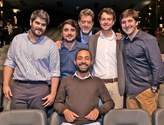 Silvio Guindane e Leo Gandelman com os sócios André Torós, João Guilherme Magalhães, Luiz Guilherme e João Luiz Niemeyer
