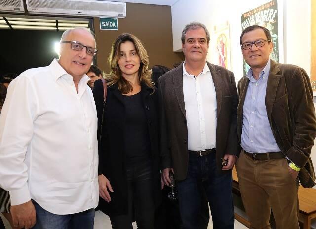 Roberto Maciel, Verena Ribeiro com Luiz Oscar e Paulinho Niemeyer