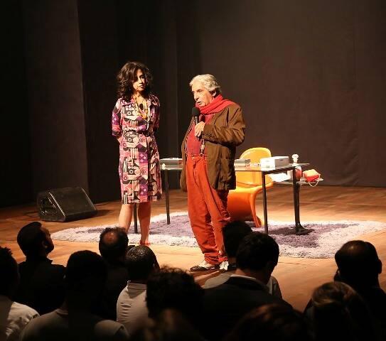 Fernanda Torres e Domingos de Oliveira no palco