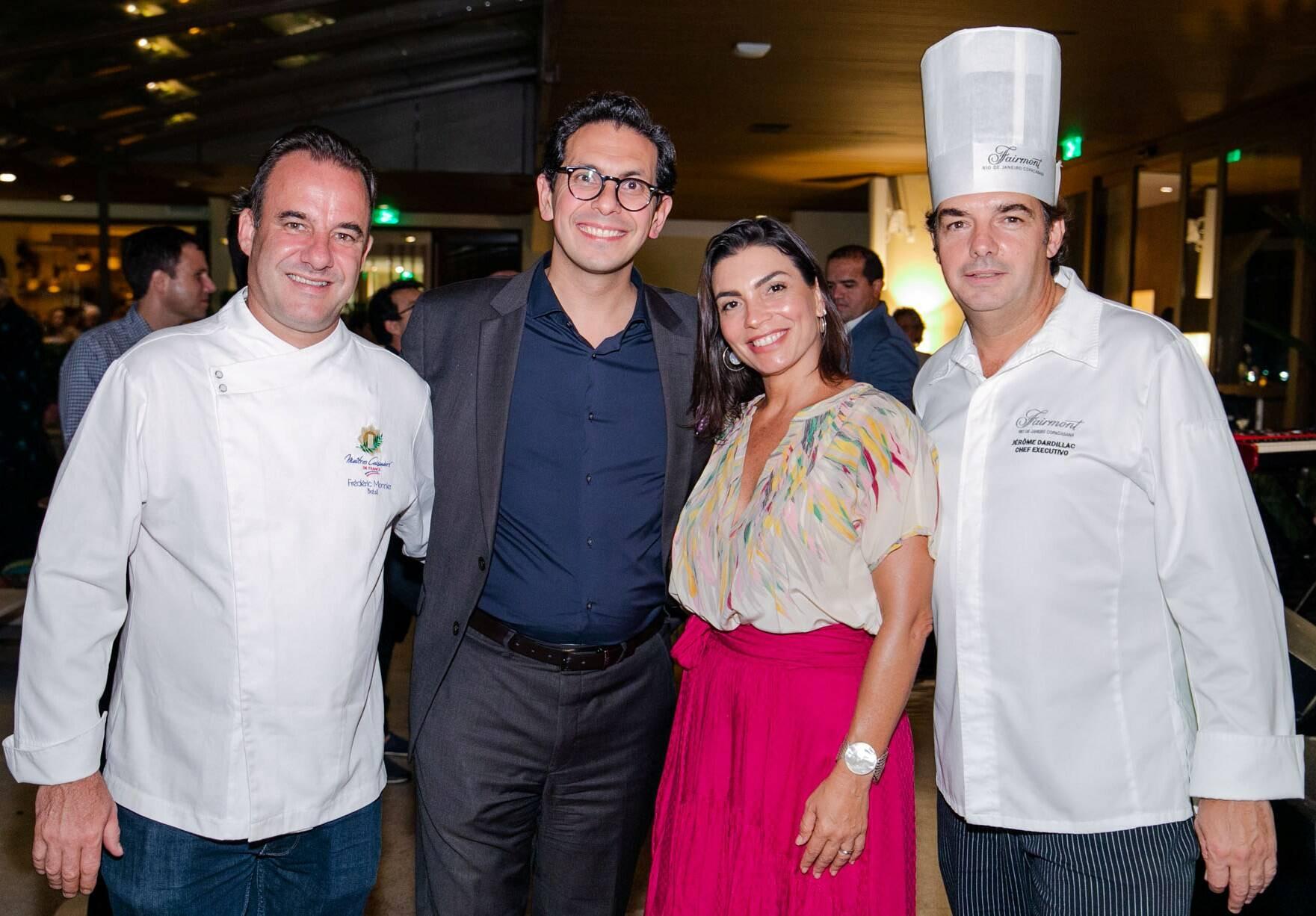 Frederic Monnier, Netto Moreira, Adriana Moreira e Jerome Dardillac /Foto: Miguel Sá