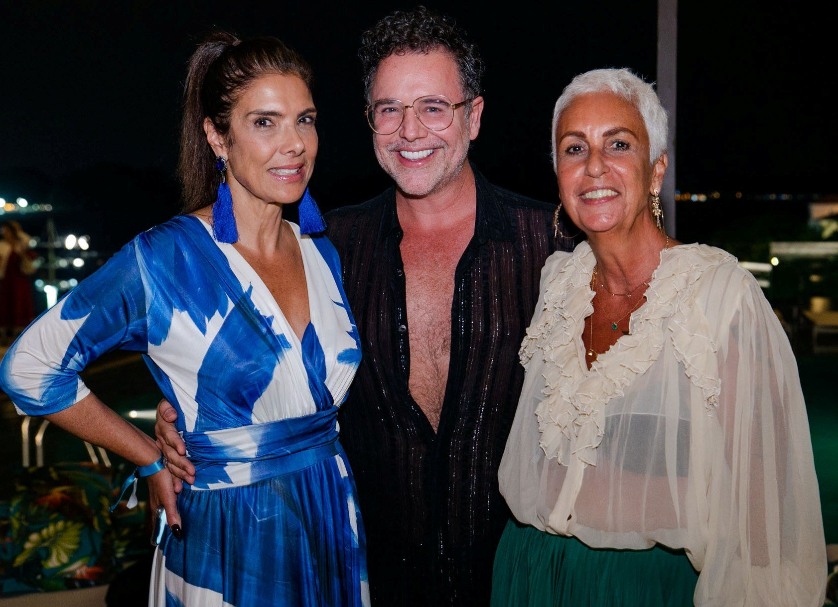 Patricia Brandão, Marcello Bosschar e Lalá Guimarães /Foto: Miguel Sá