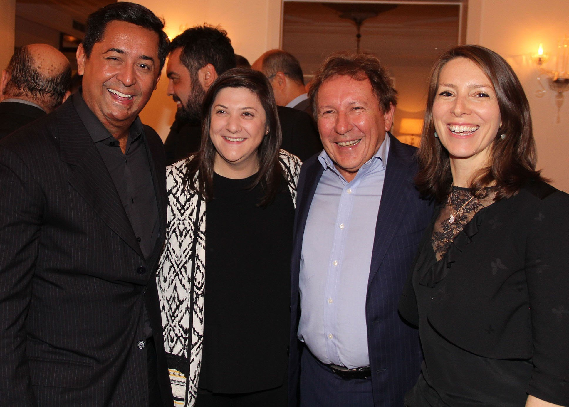 JR Pereira, Emily Prazer, Aristides Corbellini e Chloe Target Adams  /Foto: Paulo de Deus