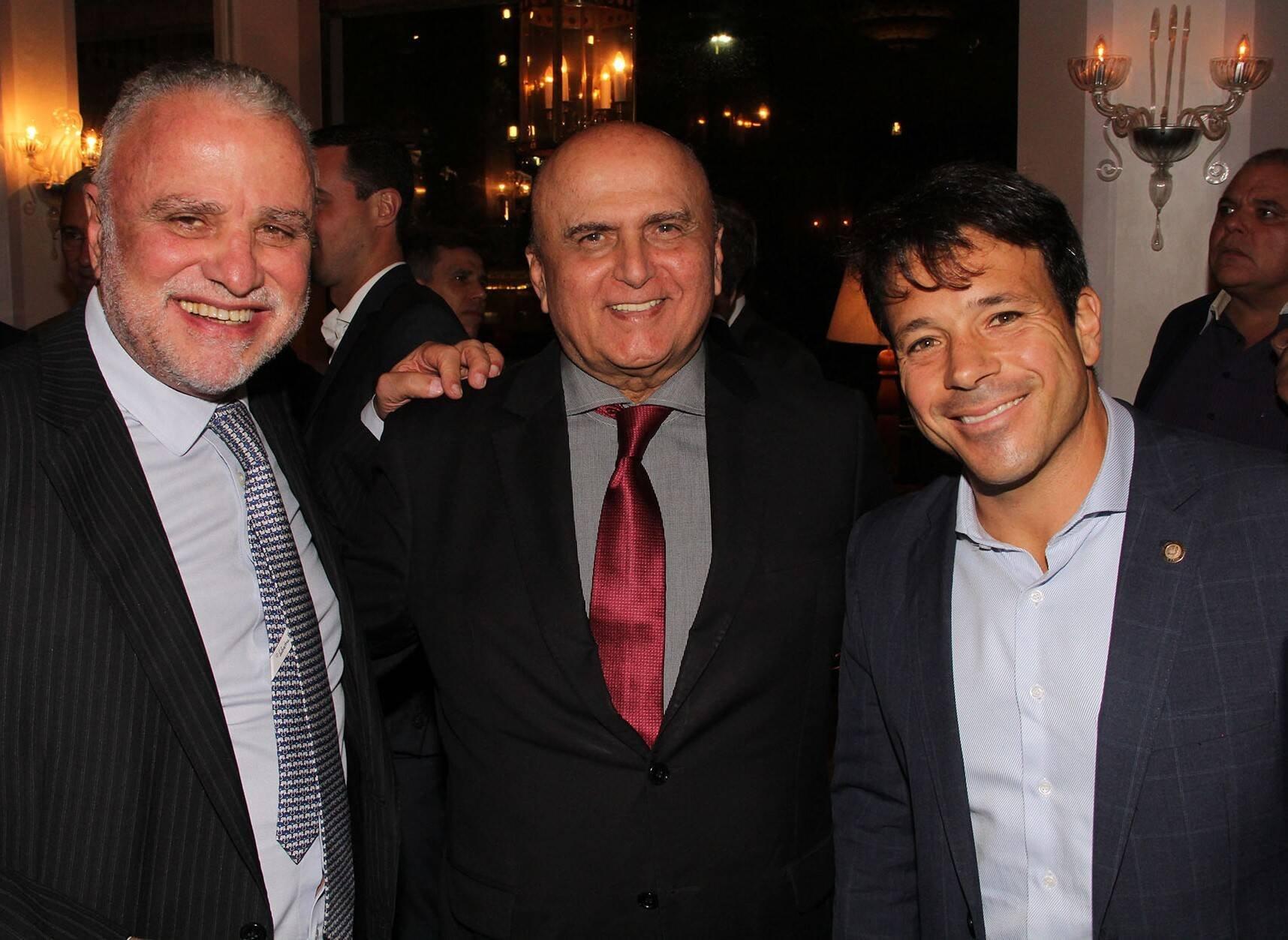 Hélio Cabral, José de Moraes e Carlo Caiado  /Foto: Paulo de Deus