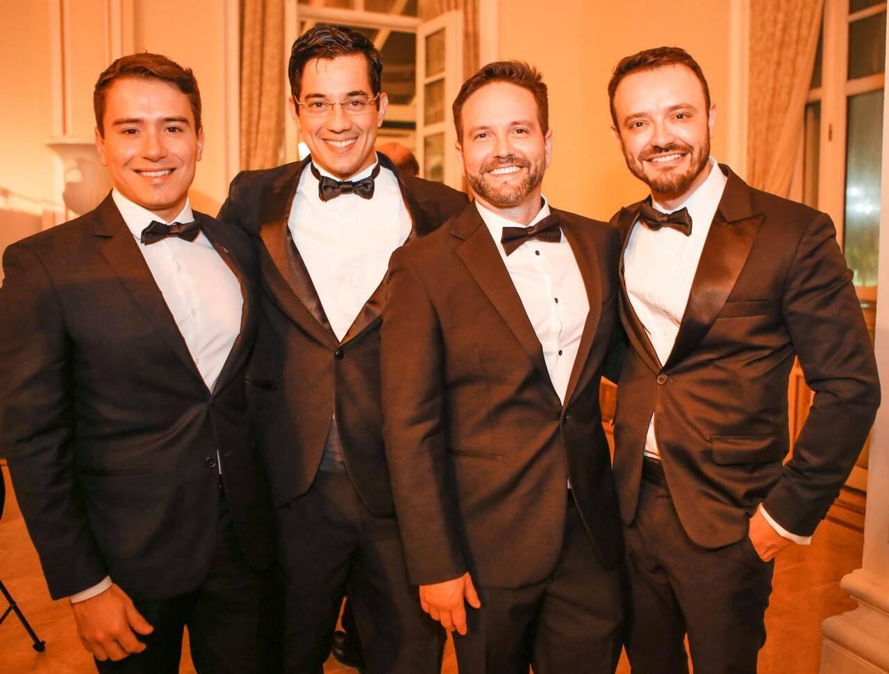 Bruno Borges, Rafael Motta, André Maranhão e Jairo Casali  /Foto: Gianne Carvalho