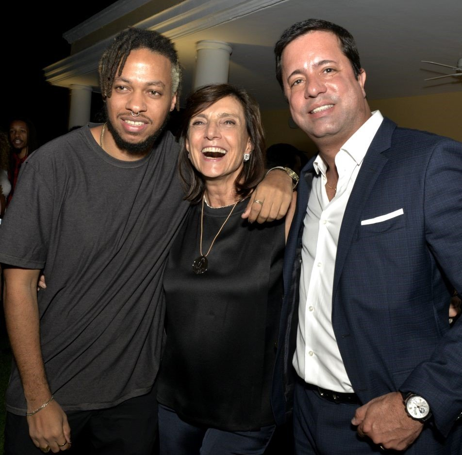 Maxwell Alexandre , Frances Reynolds  e Eduardo Braule-Wanderley /Foto: Cristina Granato