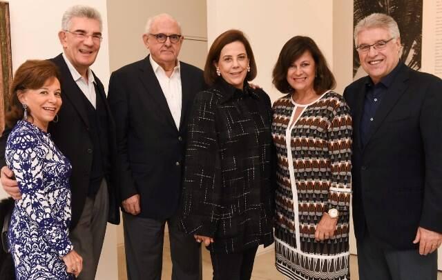 Nádia e Olavo Setubal, Nelson e Adrienne Jobim, Luiz Novelli Viana e Eliane Macedo Viana