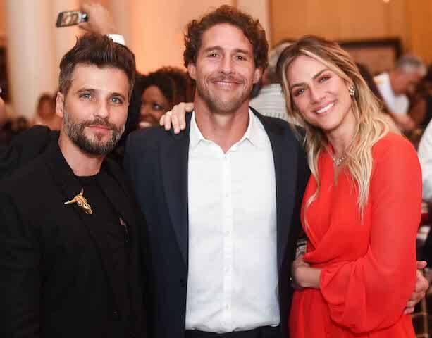 Bruno Gagliasso, Flávio Canto e Giovanna Ewbank
