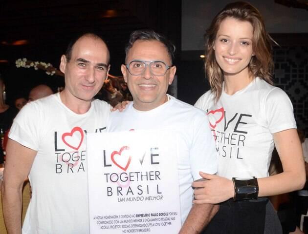 Amir Slama, Paulo Borges e Flávia Lucini