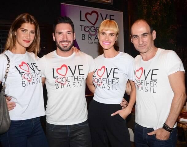 Guisela Rhein, Rodrigo Sangion, Renata Kuerten e Amir Slama