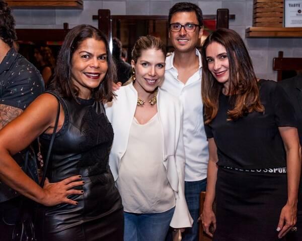 Daniela Falcão, Marcela Kanner, Eduardo Neto e Adriana Bozon