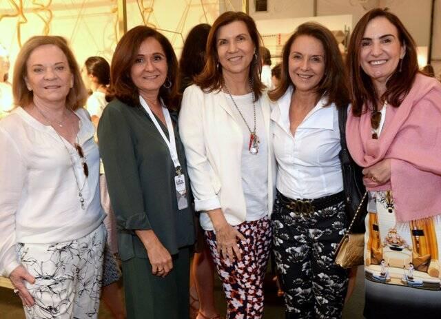 Beth Corrêa, Ana Andreazza, Silvia Nahoun, Mirian Prado e Anna Clara Tenenbaum