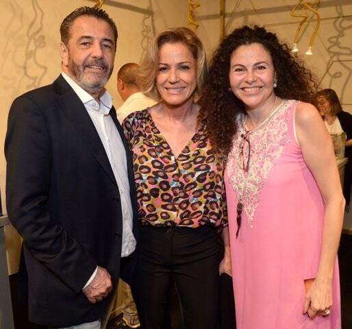 Claudio Pereira, Marcia Peltier e Yara Figueiredo