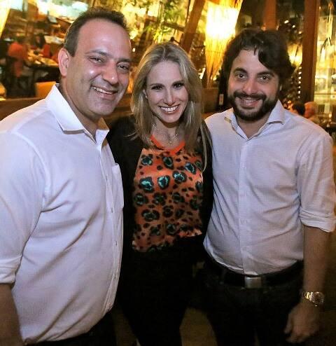 Alan Gandelman, Letícia Levy e Bernardo Aragão