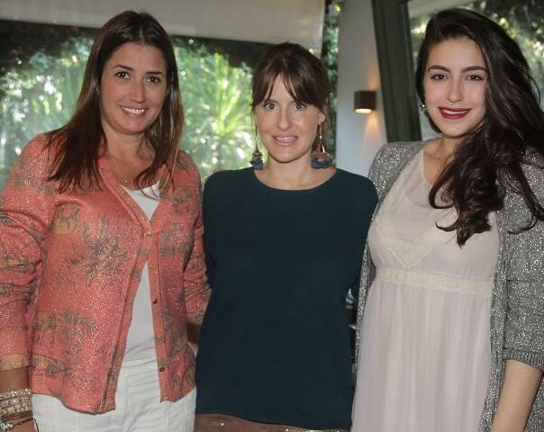 Camila Franco, Juliana Burlamaqui e Gabriela Carmen