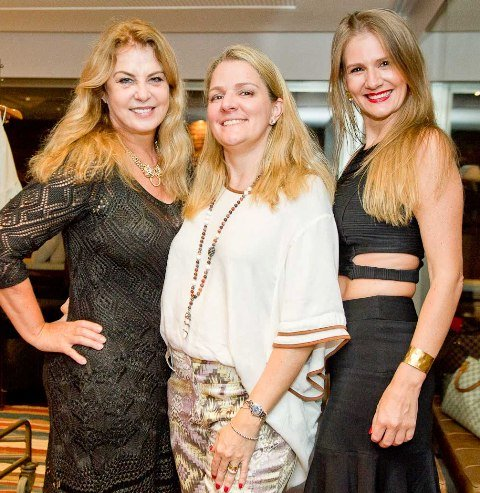 Inêz Costa, Claudia Jannuzzi e Michelle Sander