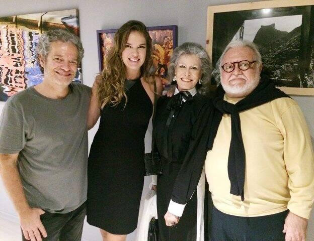 Joaquim Nabuco, Letícia Birkheuer com Gisella e Ricardo Amaral