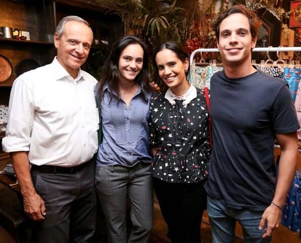 Zé Guiherme, Mariana, Gisela e Luiz Felipe Pecego