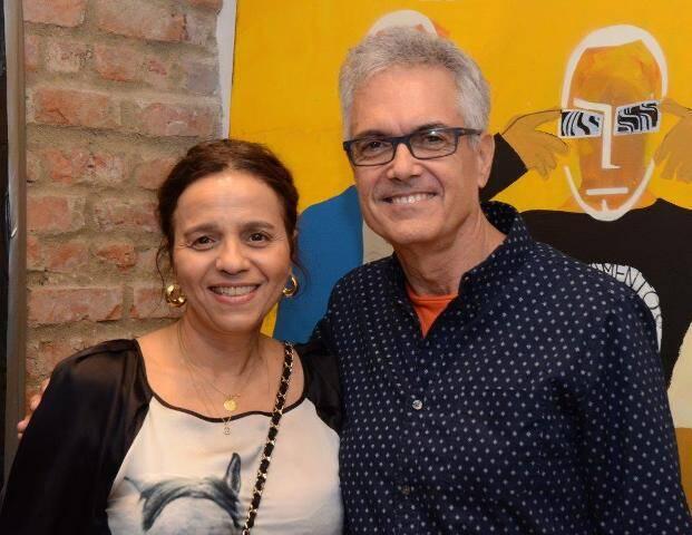 Beatriz Milhazes e Lauro Cavalcanti