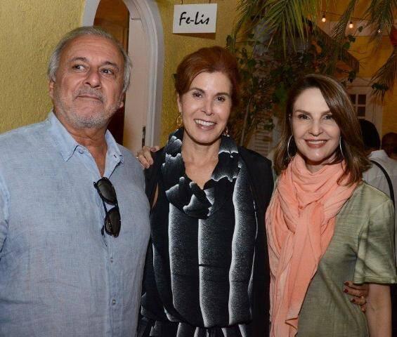 Geraldo e Laura Dibiasi com Toia Lemann