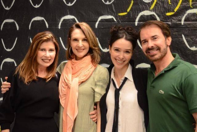 Maria Lúcia Fontainha, Toia Lemann, Elisa e Mauro Fontainha