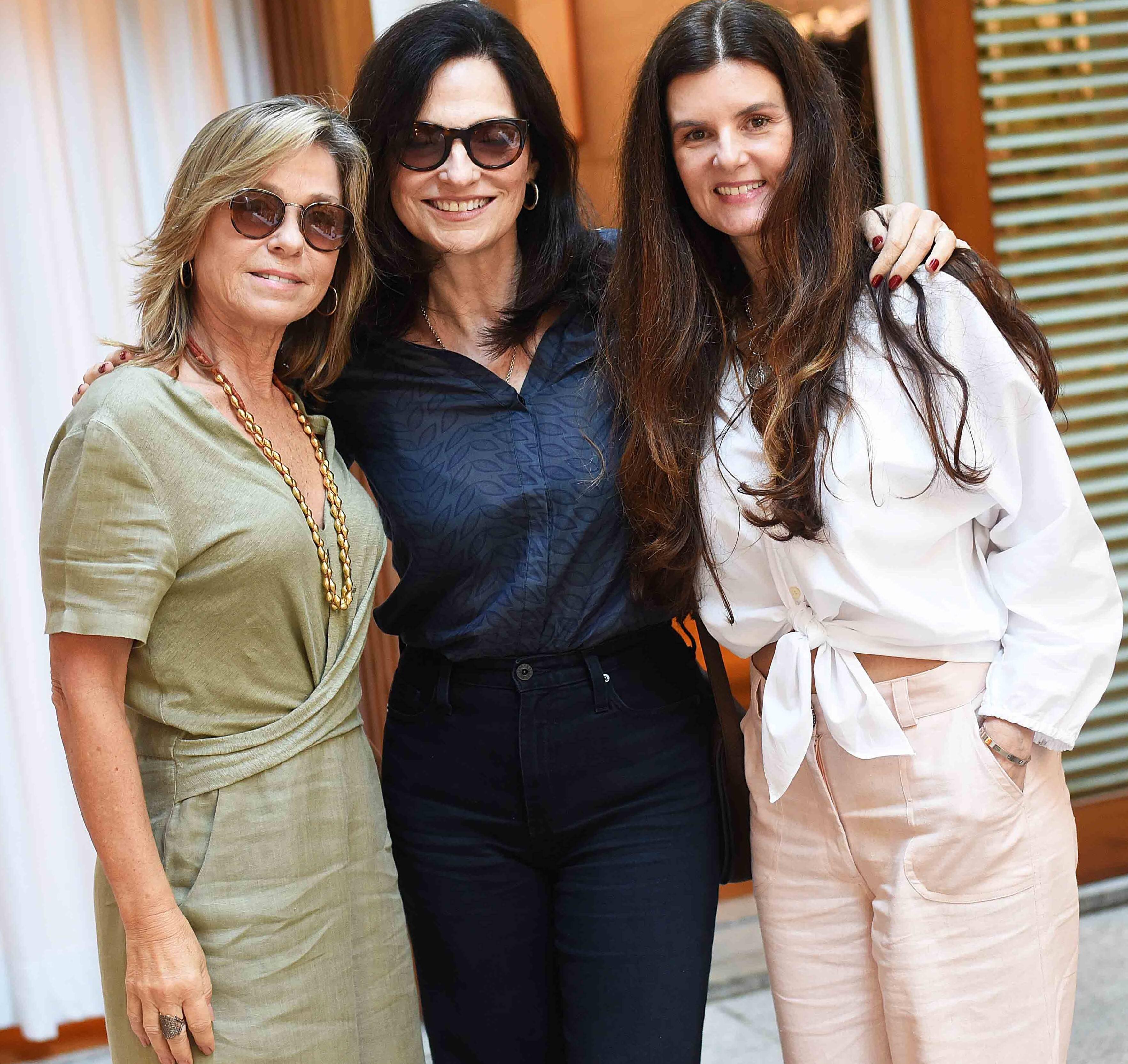 Luciana Pereira, Monica Ridolfi e Manuela Noronha /Foto: Ari Kaye