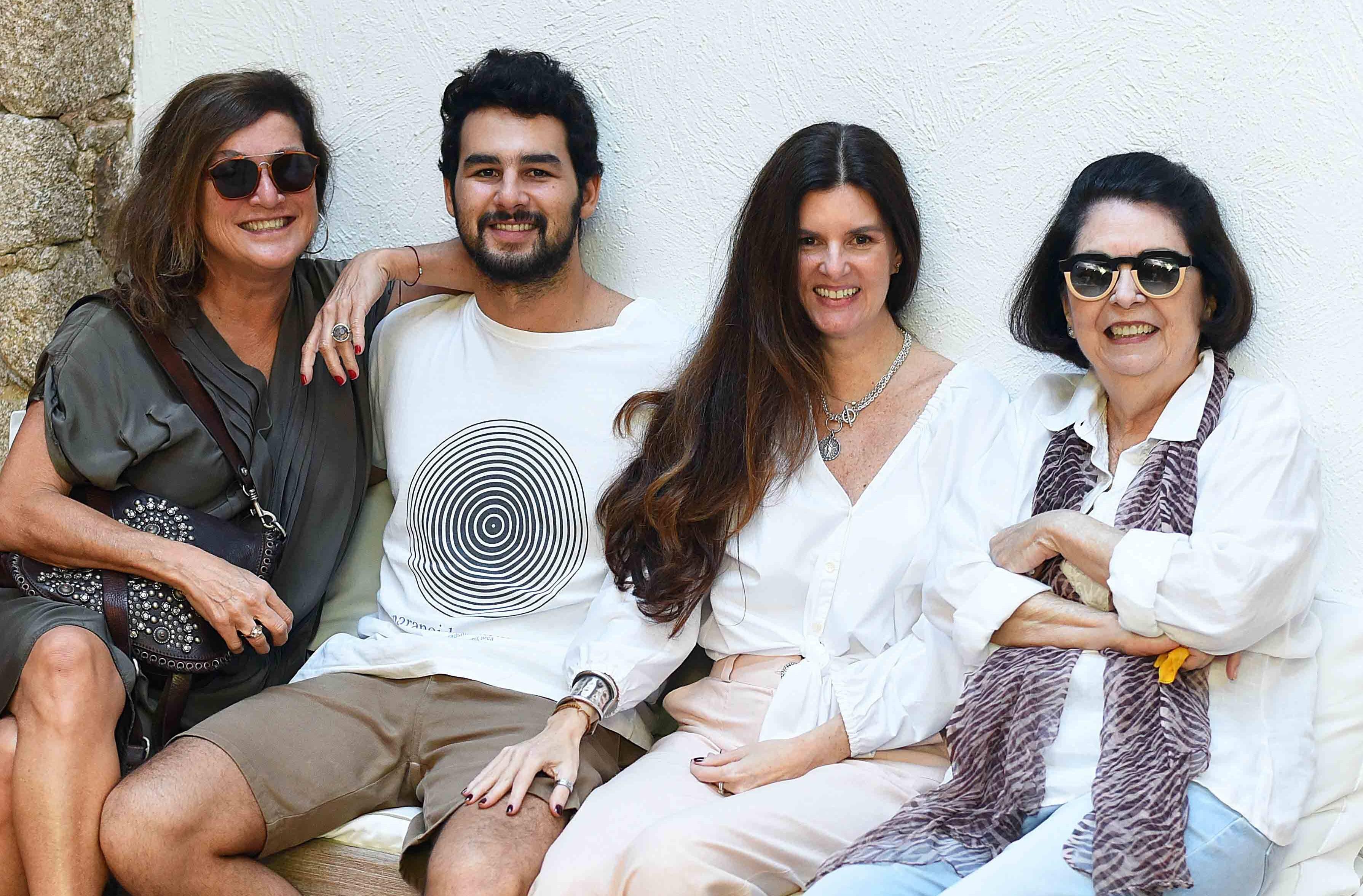 Andrea Prado, Thomaz Prado, Manuela Noronha e Suzete Aché /Foto: Ari Kaye
