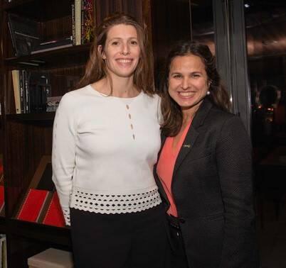 Cecile Blanc, diretora de comunicação do Hotel Lutetia, e Marie-Christine Bittencourt, diretora comercial do Hotel Lutetia /Foto: Divulgação