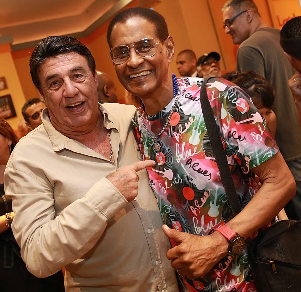 Jorge Perlingeiro e Ubirajara Félix do Nascimento, o Bira, presidente do Cacique de Ramos /Foto: Murillo Tinoco (AGi9)