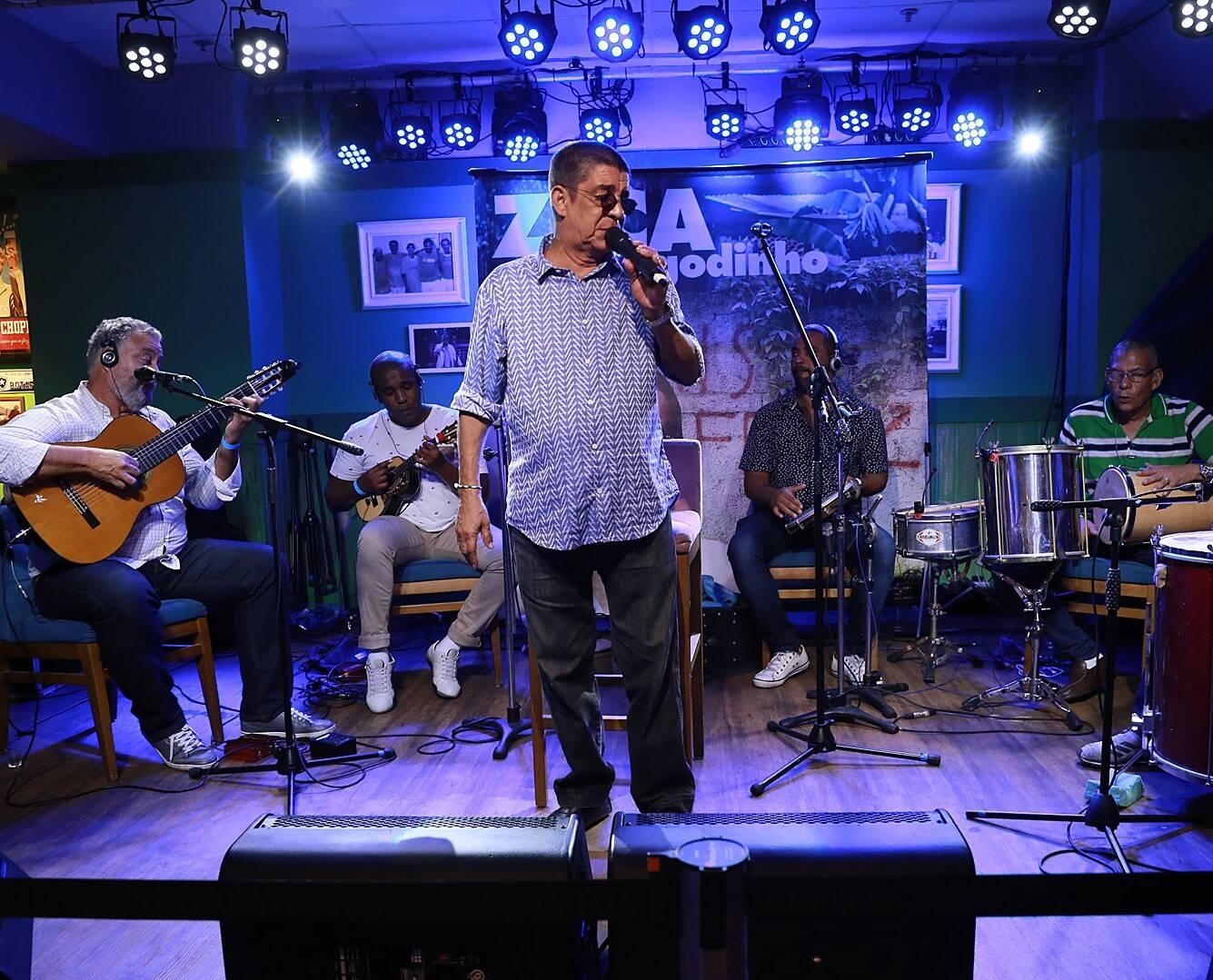 Zeca Pagodinho no palco /Foto: Murillo Tinoco (AGi9)