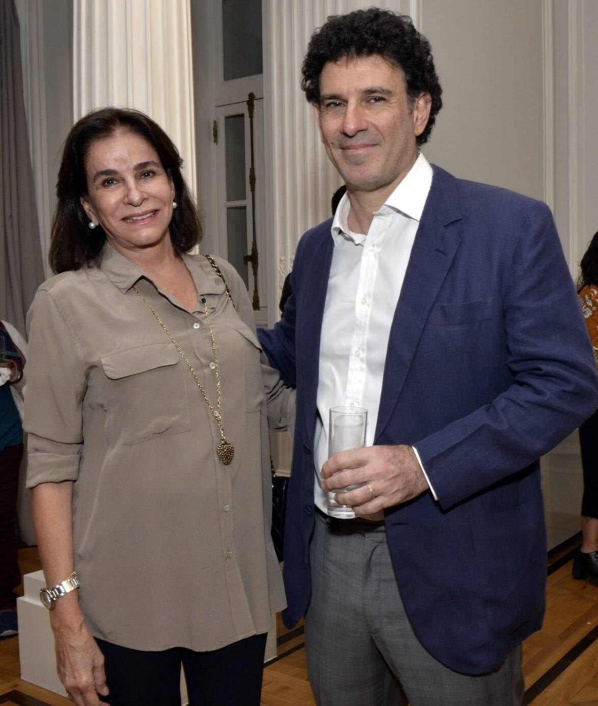 Cinthia Figueira de Mello com o genro, Jorge Oakim /Foto: Cristina Granato