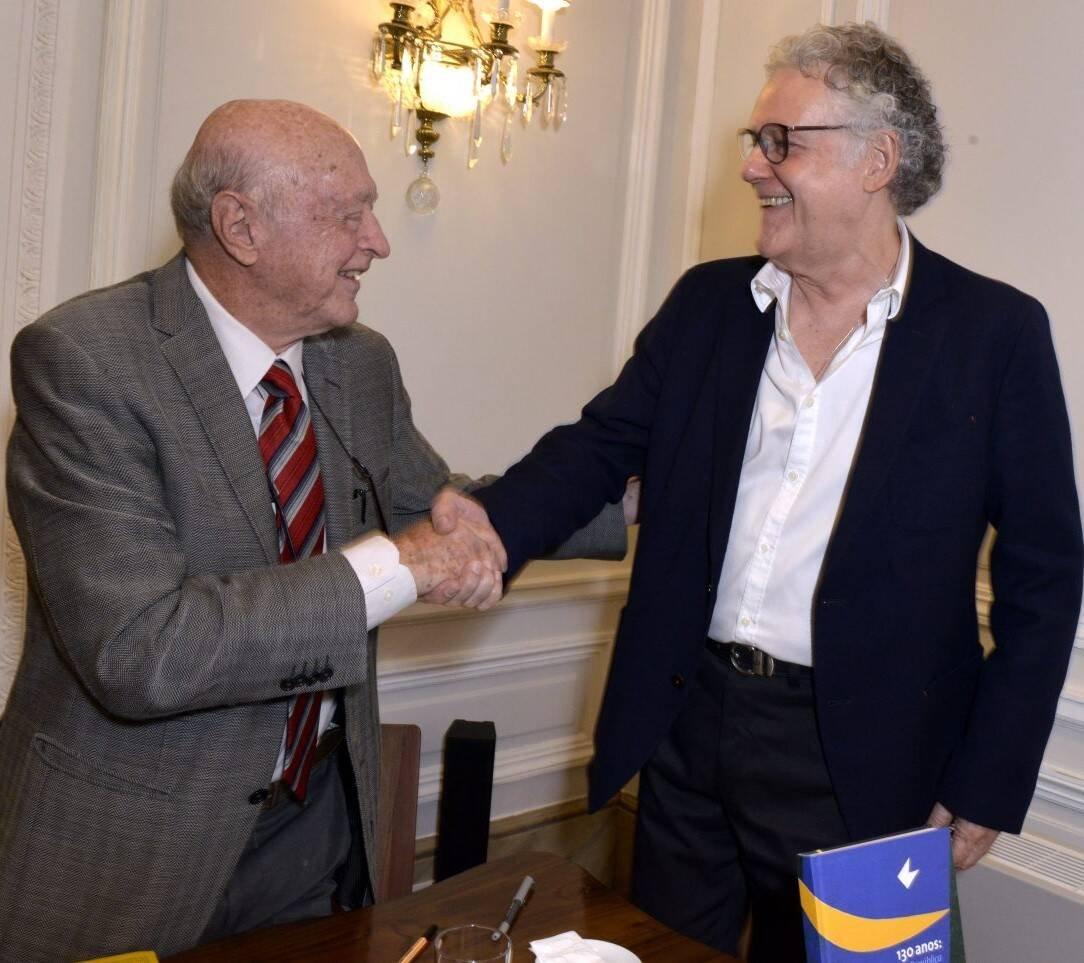 José Murilo de Carvalho e  Sérgio Henrique Abranches /Foto: Cristina Granato