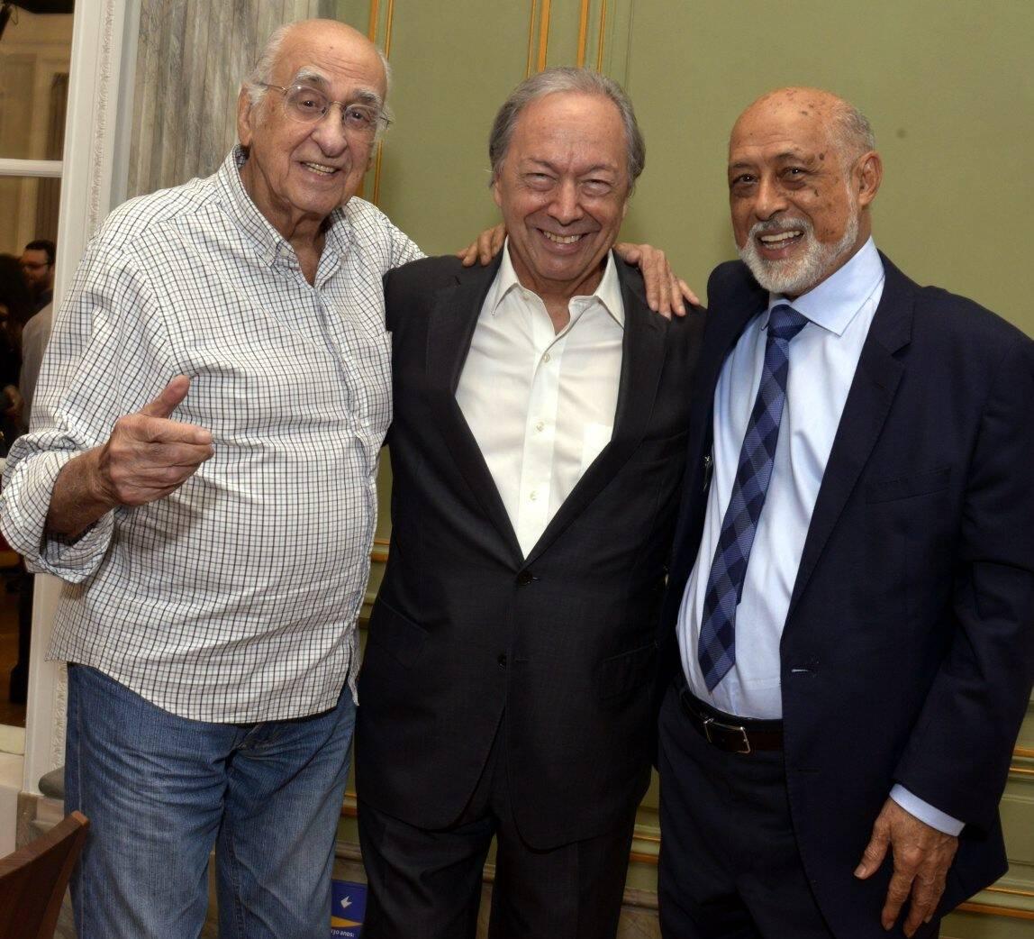 Zuenir Ventura, Pedro Malan e Domício Proença Filho -