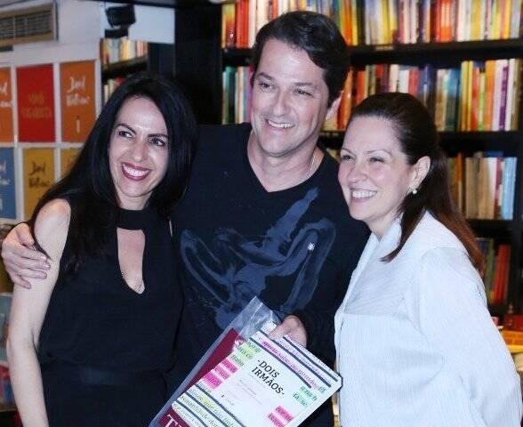 Maria Camargo, Marcelo Serrado e Mônica Albuquerque