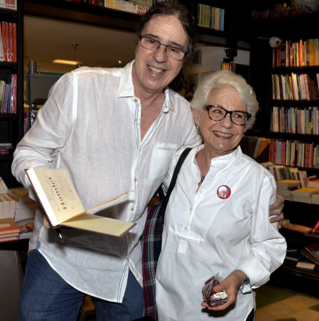 Geraldo Carneiro e Rosalie Corrêa /Foto: Cristina Granato
