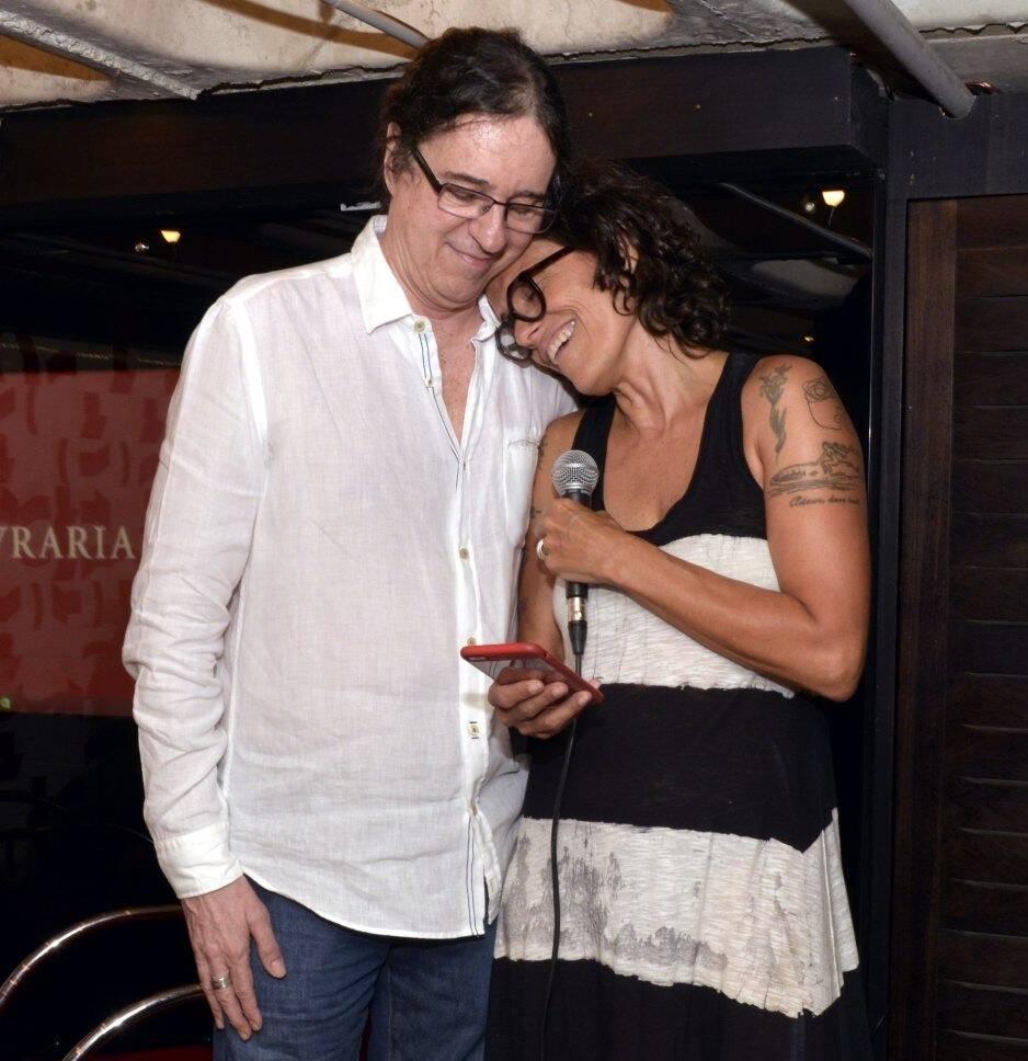 Geraldo Carneiro e  Zélia Duncan /Foto: Cristina Granato