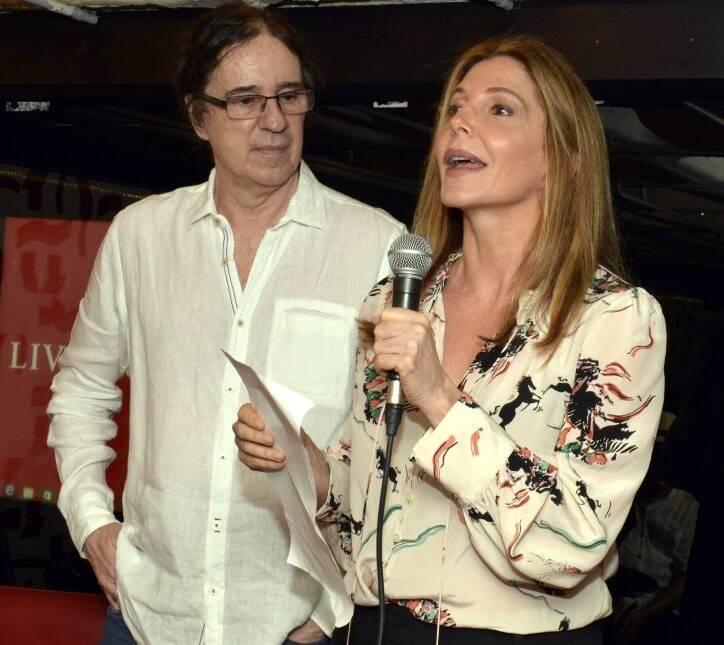 Geraldo Carneiro  e Maria Padilha /Foto: Cristina Granato