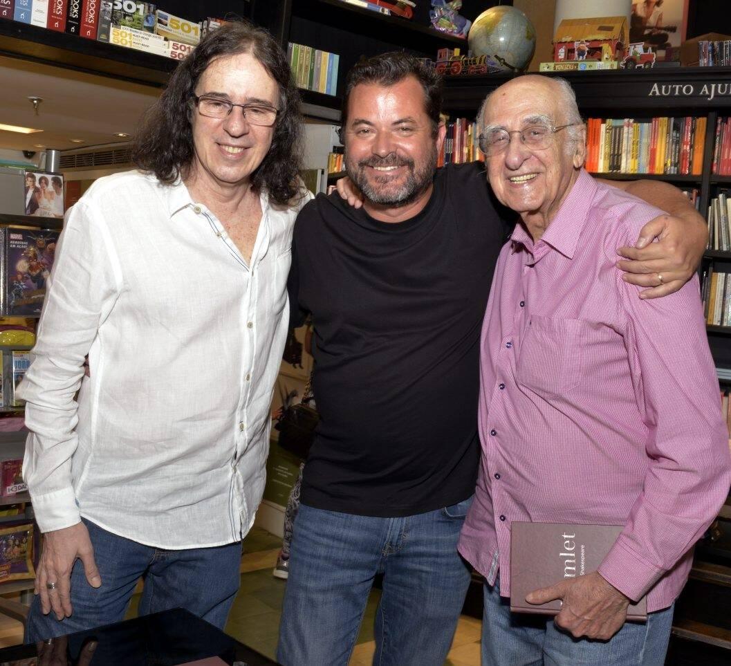 Geraldo Carneiro,  Miguel Pinto Guimarães  e Zuenir Ventura /Foto: Cristina Granato
