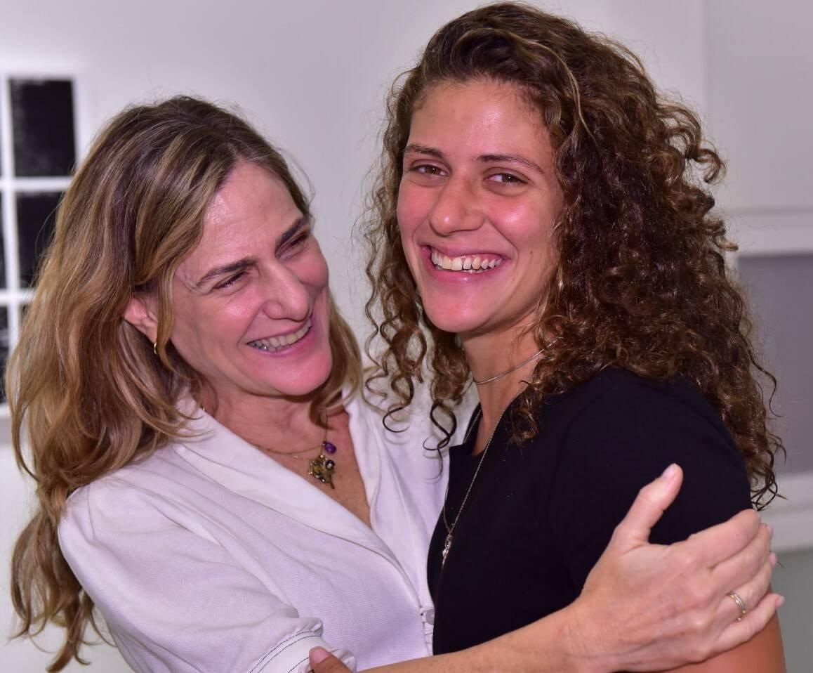 Dedina Bernardelli com a filha, Luísa Bechara /Foto: Paulo Jabur