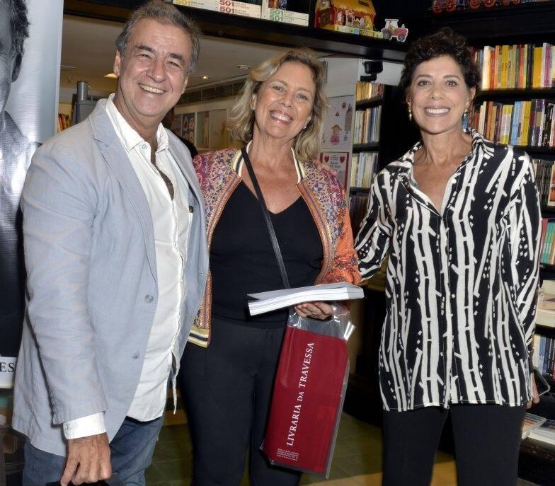 Miguel Paiva, Marcia Cezimbra e Angela Vieira  /Foto: Crisitna Granato