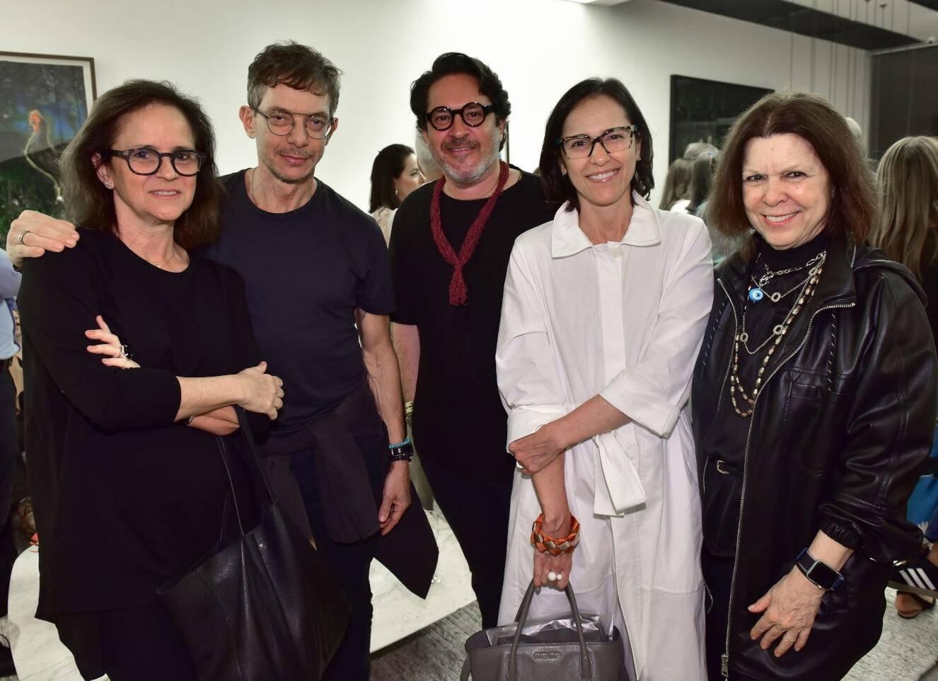 Patrícia Quentel,  André Piva, Celso Rayol, Gisele Taranto e Vanda Klabin /Foto: Paulo Jabur